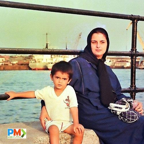 عکس کودکی امیرحسین آرمان و مادرش