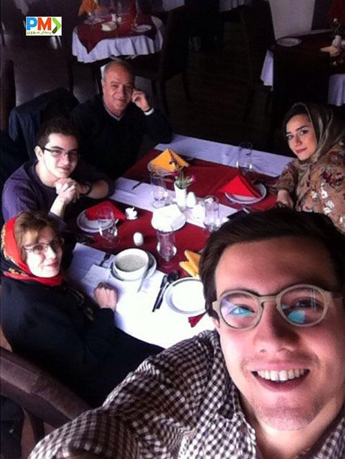 امیر کاظمی و خانواده اش