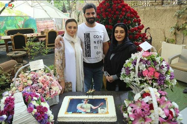 ساره بیات در کنار منوچهر هادی و یکتا ناصر