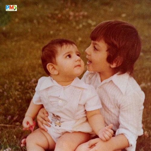 عکس کودکی آرش مجیدی و خواهرش یگانه