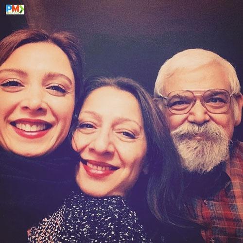 فرناز رهنما و پدر و مادرش