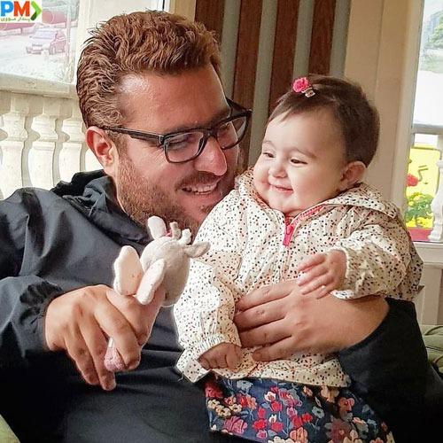 محسن کیایی و دخترش