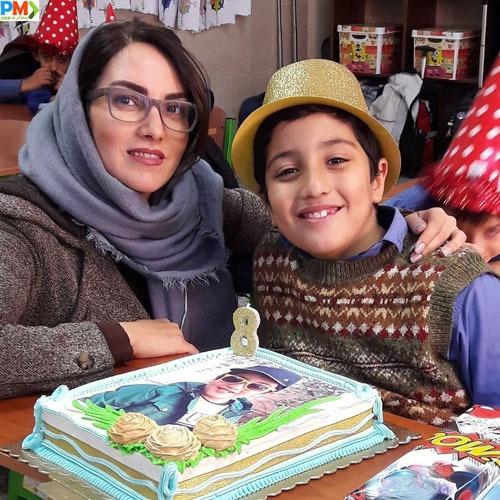 مرجان شیرمحمدی و پسرش آهیل