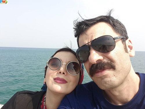 رویا میرعلمی و همسرش