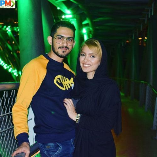 مونا کرمی و همسرش