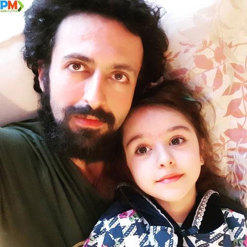 حسام محمودی و دخترش هانا