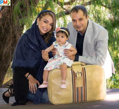 شبنم قلی خانی و همسرش و دخترش شانا
