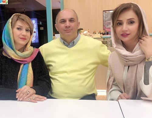 شبنم قلی خانی د ر کنار خواهر و برادرش
