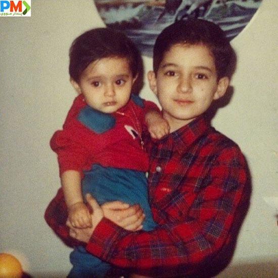 کودکی شهنام شهابی و خواهرزاده اش دلارام