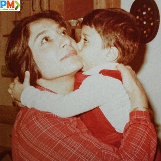 امیرحسین طاهری و مادرش