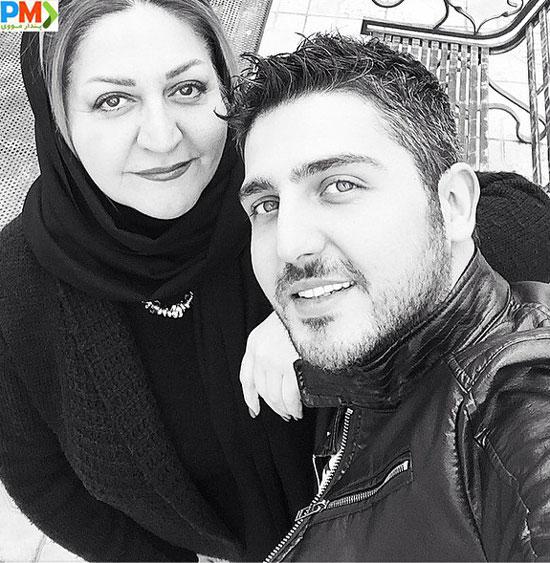 محمدرضا غفاری و مادرش