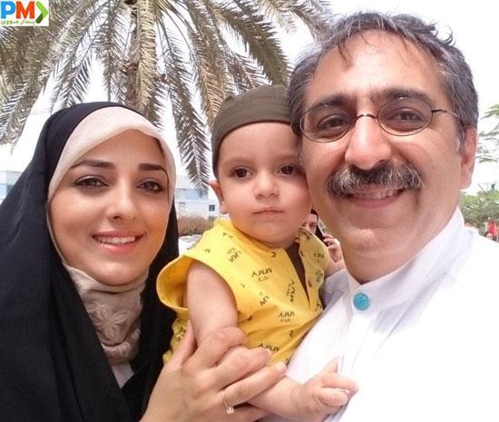 شهرام شکیبا و همسرش و فرزندش صدرا