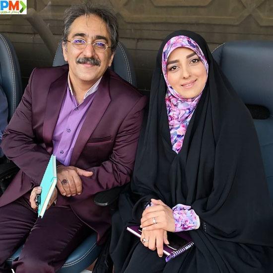 شهرام شکیبا و همسرش ستاره سادات قطبی