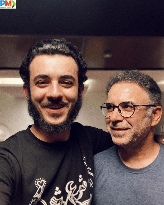 علی شادمان در کنار پدرش