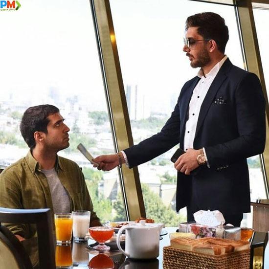 عرفان ناصری و فرزاد فرزین در سریال ملکه گدایان