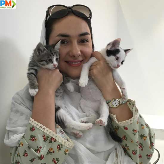 هانیه توسلی و گربه هایش