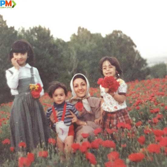 عکس کودکی هانیه توسلی در کنار مادرش